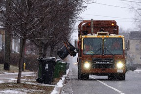 Garbage collection in Toronto on Tuesday January 31, 2017.