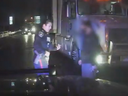 A trucker, 42, from Ajax, was charged with impaired driving after he was allegedly caught driving in oncoming lanes of traffic on a busy road in Vaughan on Feb. 4, 2020. (York Regional Police video image)