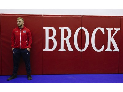 Clayton Pye, a wrestler at Brock University, has overcome adversity after almost being fatally stabbed a few years ago, is well on his way to competing for Canada at the Olympics.  in Toronto, Ont. on Tuesday February 18, 2020. Jack Boland/Toronto Sun/Postmedia Network
