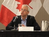 Scott Streiner, chair and CEO of Canadian Transport Agency, listens to recommendations for improved air passenger rights at a public consultation at the Delta Hotel in Winnipeg on Monday, June 25, 2018.