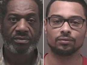 Courtney McEwan, left, and son Tyrone McEwan face human trafficking charges.