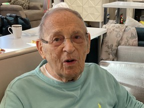 Sue-Ann Levy's father Lou, 90, resides in a Toronto dementia facility and she hasn't been able to visit him for five weeks because of the coronavirus outbreak. (supplied photo)