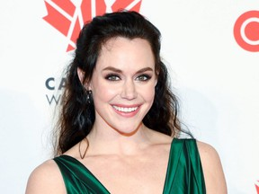Figure skater Tessa Virtue arrives for Canada's Walk of Fame 2018 ceremony, held at the Sony Centre for the Performing Arts in Toronto on Dec. 1, 2018.  (JAIME ESPINOZA/WENN.com)