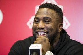 Toronto FC's Jozy Altidore, shown here at a year-end media interview, was back behind the microphones yesterday, doing guest spot on TSN's SportsCentre. Ernest Doroszuk/Toronto Sun