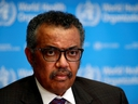 Director-General of the World Health Organization (WHO) Tedros Adhanom Ghebreyesus attends a news conference on the situation of the coronavirus (COVID-2019), in Geneva, Switzerland, Feb. 28, 2020. (REUTERS/Denis Balibouse/File Photo)