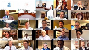Screen capture from Toronto council's first virtual meeting, held on Thursday, April 30, 2020.