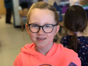 Sadie, 6, underwent hours of surgery at the Hospital for Sick Children in Toronto to repair extensive injuries she suffered when she was attacked by two Saint Bernards in Haliburton on Sunday, April 12, 2020. (GoFundMe)