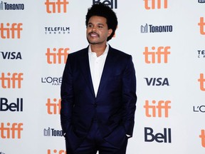 """The Weeknd arrives at the international premiere of """"Uncut Gems"""" at the Toronto International Film Festival in Toronto September 9, 2019."""