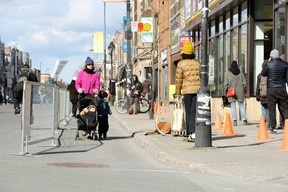 If not for the Health Corridor in Montreal, social distancing would be nearly impossible. Photo by Christine Kerrigan