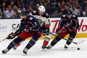 With injured all-stars Seth Jones (left) and Cam Atkinson (right) back for the Blue Jackets,      Maple Leafs GM Kyle Dubas could easily see his playoff misery continue.