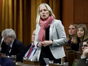 Canada's Minister of Infrastructure and Communities Catherine McKenna speaks during question period in the House of Commons on Parliament Hill in Ottawa, Dec. 6, 2019.