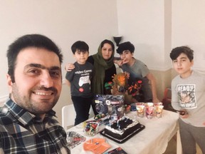 Tahir Hamid, left, along with son Zheer, wife Chia, Sons Ahmed and Aran.