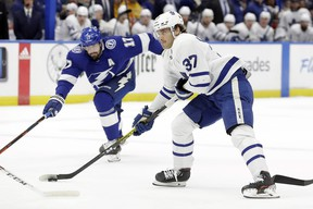 Defenceman Timothy Liljegren has played 11 games with the Maple Leafs this COVID-hit season.