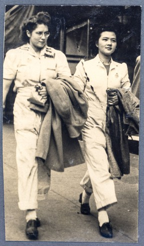 Lily Young (on right), 1943, Vancouver, B.C.