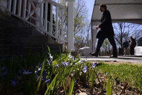 Prime Minister Justin Trudeau leaves after delivering an address to Canadians from Rideau Cottage during the COVID-19 pandemic in Ottawa on Tuesday, May 5, 2020.