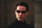 Neo (Keanu Reeves) in a scene from The Matrix Reloaded.