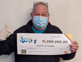 David Redinger, 71, matched all seven numbers of his LOTTO MAX ticket and won $15 million.