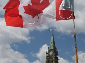 Canada Day on Parliament Hill in Ottawa, Wednesday July 1, 2020.