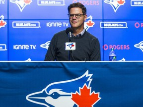 Toronto Blue Jays general manager Ross Atkins is trying to stay positive. ERNEST DOROSZUK/SUN FILE