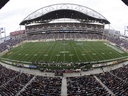 Investors Group Field in Winnipeg is shown during opening kickoff for an CFL game between the Winnipeg Blue Bombers and Montreal Alouettes in Winnipeg on June 27, 2013.