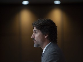 Prime Minister Justin Trudeau speaks during a news conference, Wednesday,July 8, 2020 in Ottawa.