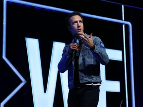 WE co-founder Craig Kielburger speaks at the We Day festivities held at the National Arts Centre in Ottawa, Dec. 10, 2019.