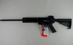 A 9-mm carbine rifle seized by Peel cops.