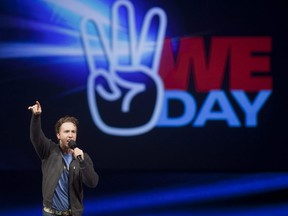 Craig Kielburger, founder of the charity Free the Children, speaks at the charity's WE Day celebrations in Kitchener February 17, 2011.