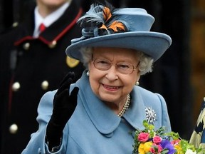 Britain's Queen Elizabeth II leaves after the annual Commonwealth Service at Westminster Abbey in London, Britain March 9, 2020.