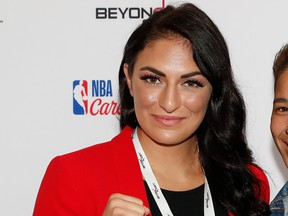 Sonya Deville poses for a portrait at the NYU Kimmel Center during the Beyond Sport United event on September 13, 2018 in New York City.