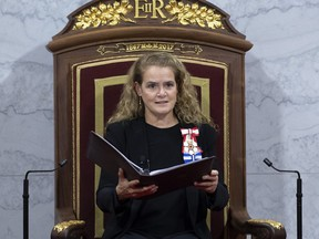 Governor-General Julie Payette delivers the Throne Speech in the Senate chamber, Thursday, December 5, 2019 in Ottawa.