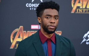 In this file photo taken on April 23, 2018 Actor Chadwick Boseman arrives or the World Premiere of the film 'Avengers: Infinity War' in Hollywood.