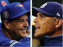 Opposing manager Charlie Montoyo of the Toronto Blue Jays and Kevin Cash of the Tampa Bay Rays.