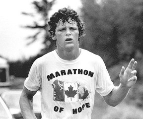 When Terry Fox was forced to stop on Sept. 1, 1980, 143 days after his quest to run across Canada had been launched, he had covered 5,373 kilometres but was not yet halfway to his destination. He died in June 1981, and within months Canadians picked up where he left off, organizing the first Terry Fox Run.