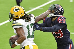 Green Bay Packers' Davante Adams destroyed the Houston Texans on Sunday.
