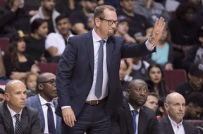 Raptors head coach Nick Nurse and former assistant coach Nate Bjorkgren have a history going back to 1993. Bjorkgren has joined the Pacers as their head coach.