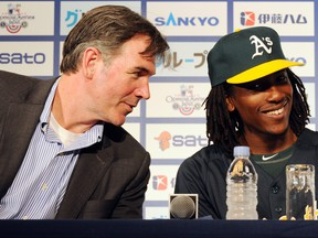 reports suggest Billy Beane could be leaving the Athletics soon KITAMURA (Photo credit should read TOSHIFUMI KITAMURA/AFP via Getty Images)