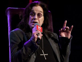 Ozzy Osbourne speaks onstage at iHeartRadio ICONS with Ozzy Osbourne: In Celebration of Ordinary Man at iHeartRadio Theater, Feb. 24, 2020 in Burbank, Calif.