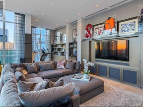 A Realtor.ca listing for penthouse unit 5102 at 33 Bay St. is listed for nearly $7 million. According to BarDown podcast, the owner may be retired Leafs captain Wendel Clark.