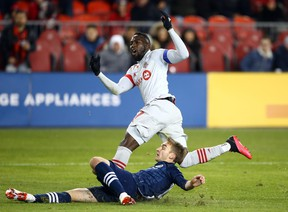 Jozy Altidore has missed seven consecutive games but could see some playing time Sunday when TFC takes on the New York Red Bulls in the regular-season finale. Getty Images