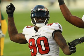 Jason Pierre-Paul of the Tampa Bay Buccaneers says he's looking forward to facing his old team, the New York Giants, on Monday Night Football.