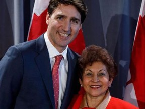 Prime Minister Justin Trudeau and Don Valley East MP Yasmin Ratansi.
