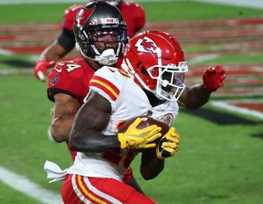 Chiefs' Tyreek Hill is now the leading WR in fantasy by 34.3 points over Packers star Davante Adams.USA TODAY