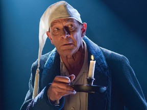 Actor Stephen Hair returns as Scrooge in Theatre Calgary's 2020 digital version of A Christmas Carol.