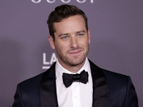 Celebrities attend 2017 LACMA Art + Film Gala Honoring Mark Bradford and George Lucas presented by Gucci at LACMA.  Featuring: Armie Hammer Where: Los Angeles, California, United States When: 05 Nov 2017.