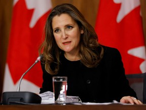 Deputy Prime Minister and Minister of Finance Chrystia Freeland.