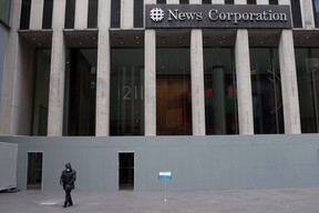 News Corporation headquarters, the building that houses Fox News in New York City.