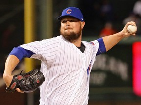 Starting pitcher Jon Lester of the Chicago Cubs delivers the ball against the Pittsburgh Pirates at Wrigley Field on Sept. 27, 2018 in Chicago, Ill.