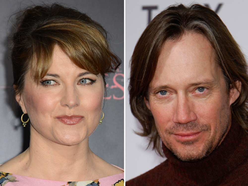 NO, PEANUT: Lucy Lawless attacks Hercules star Kevin