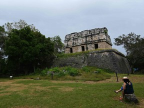 View of the Chichen Itza archeological area in Yucatan state, Mexico, on Dec. 17, 2020.